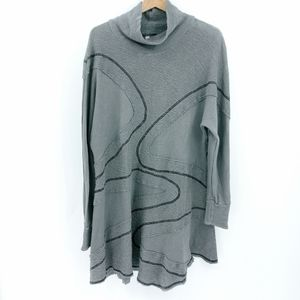 Cynthia Ashby Art to Wear Cowl Sweatshirt Dress